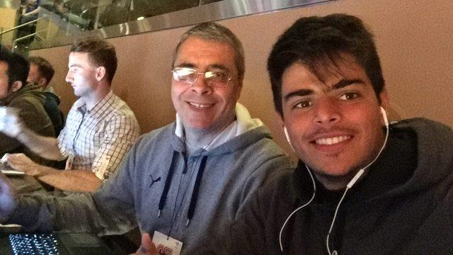 Interbasquet en el Madison junto a Máximo Allende quien se ocupó de las imágenes